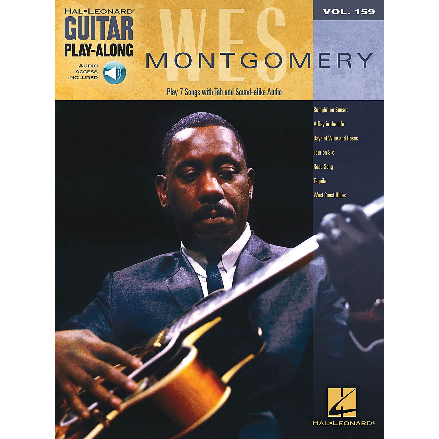 Hal Leonard Wes Montgomery Guitar Play-Along Series Softcover Audio Online Performed by Wes Montgomery thumbnail