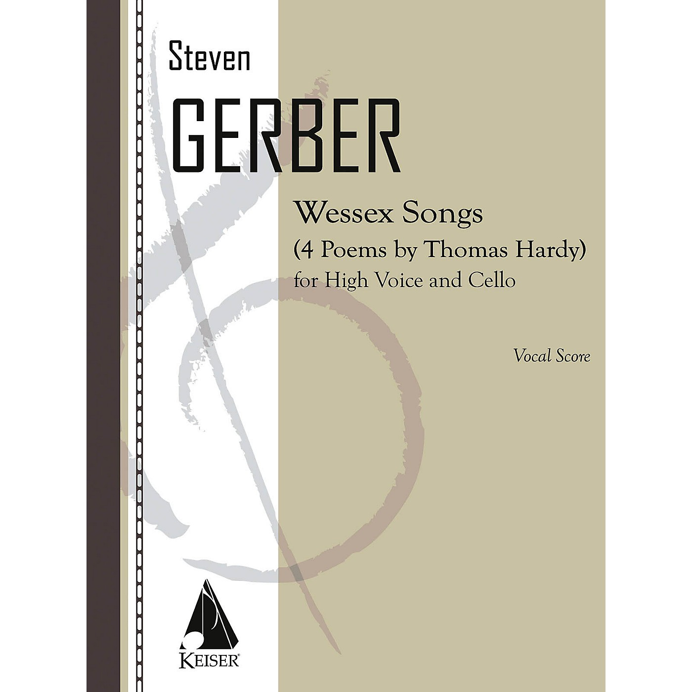 Lauren Keiser Music Publishing Wessex Songs: Four Poems of Thomas Hardy for Voice and Cello - Score LKM Music by Steven Gerber thumbnail