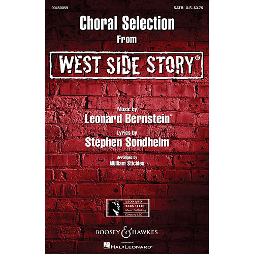 Leonard Bernstein Music West Side Story - Choral Selections SATB Arranged by William Stickles thumbnail