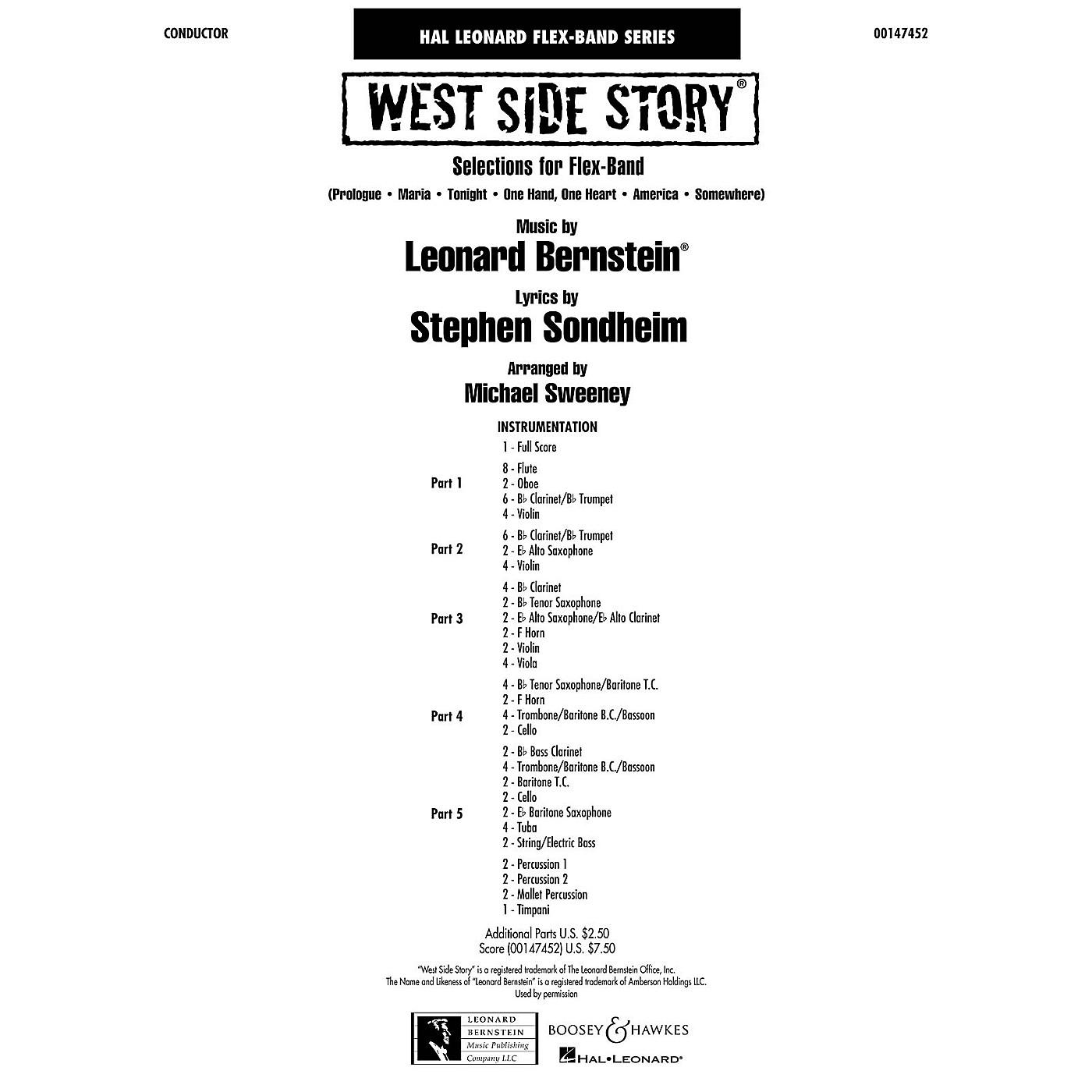 Hal Leonard West Side Story (flex-band) Full Score Concert Band thumbnail