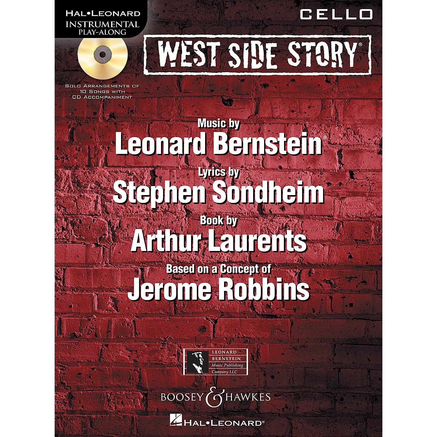 Hal Leonard West Side Story for Cello Instrumental Play-Along Series Softcover with CD thumbnail