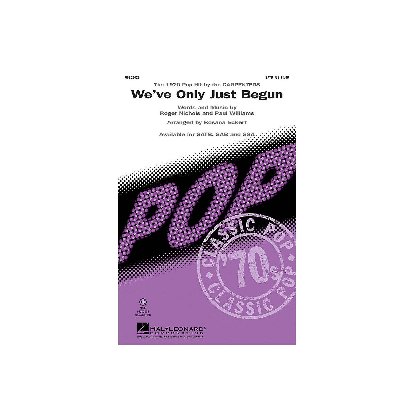 Hal Leonard We've Only Just Begun ShowTrax CD by The Carpenters Arranged by Rosana Eckert thumbnail