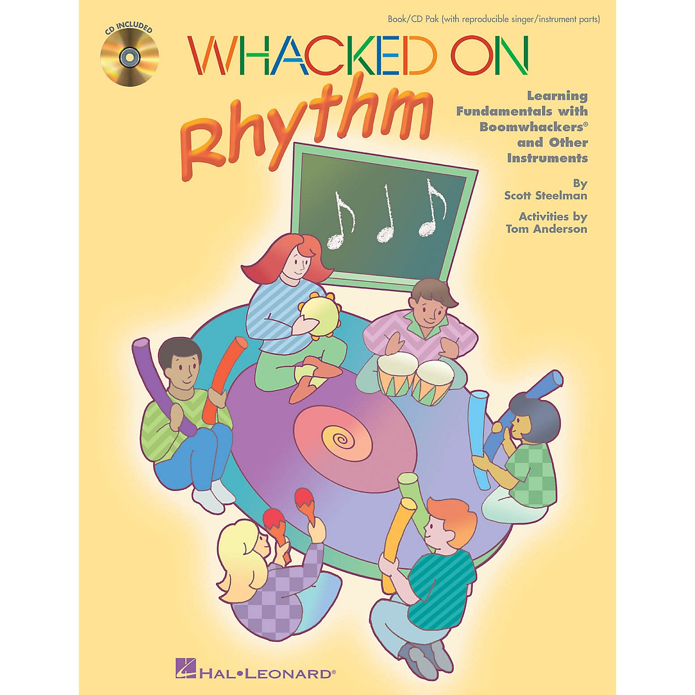 Hal Leonard Whacked on Rhythm (Learning Fundamentals with Boomwhackers and Other Instruments) by Tom Anderson thumbnail