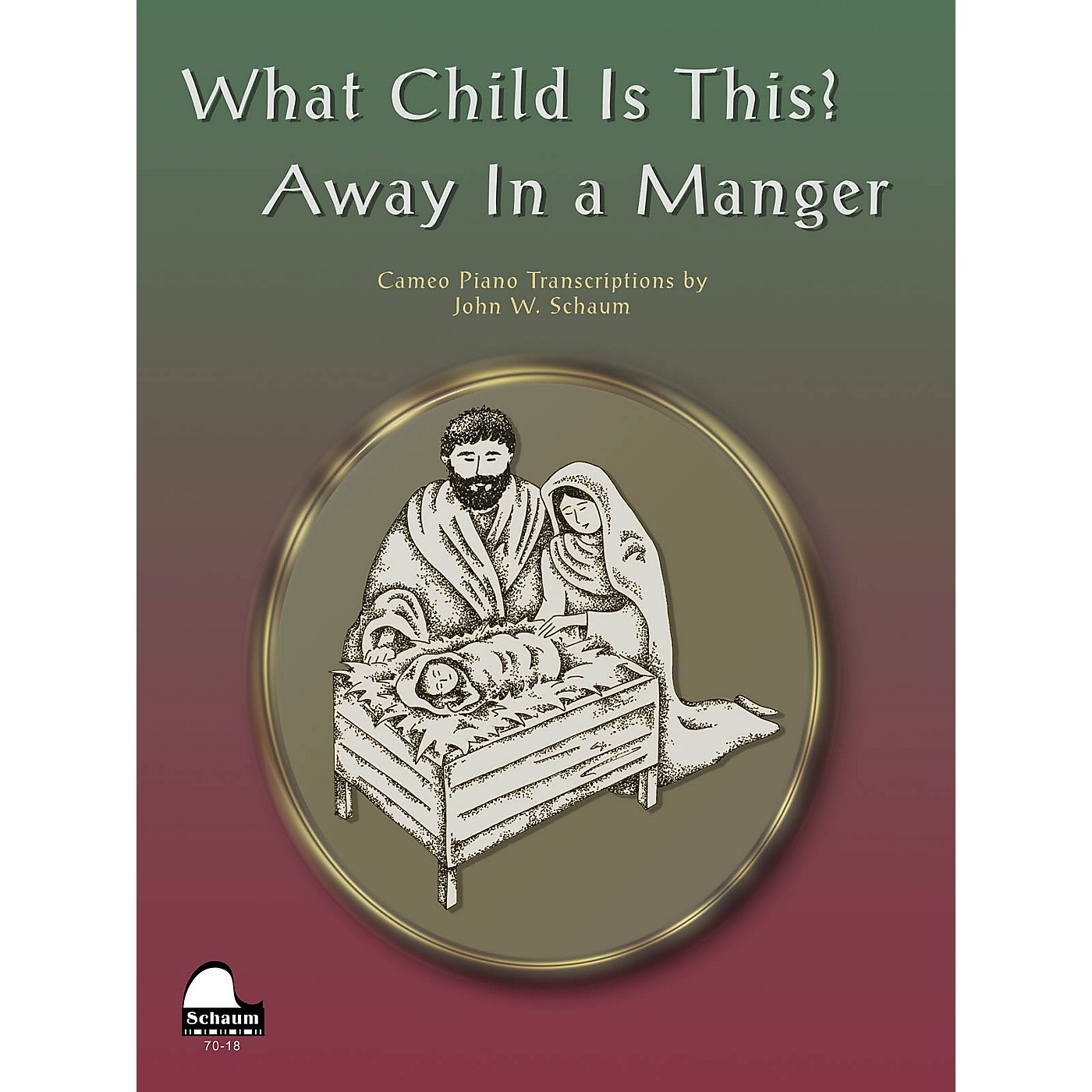 SCHAUM What Child Is This Away In Manger Educational Piano Series Softcover thumbnail