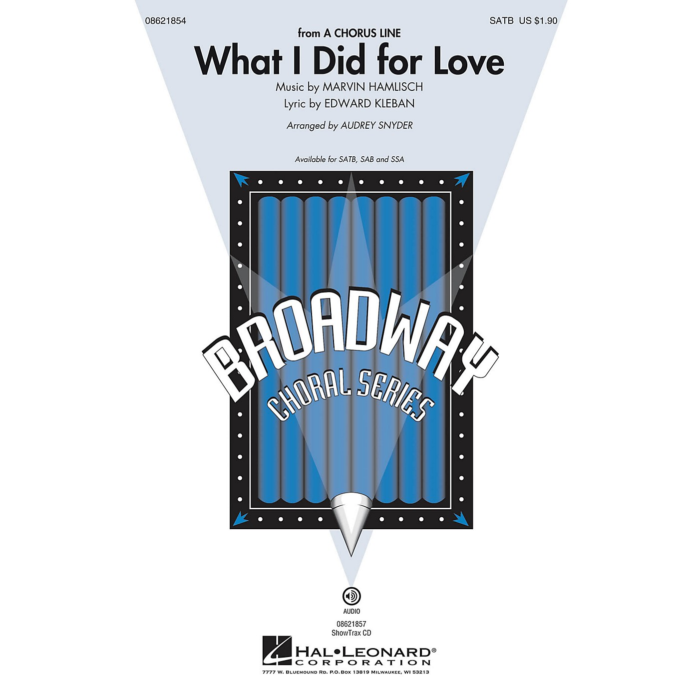 Hal Leonard What I Did for Love (from A Chorus Line) SSA Arranged by Audrey Snyder thumbnail