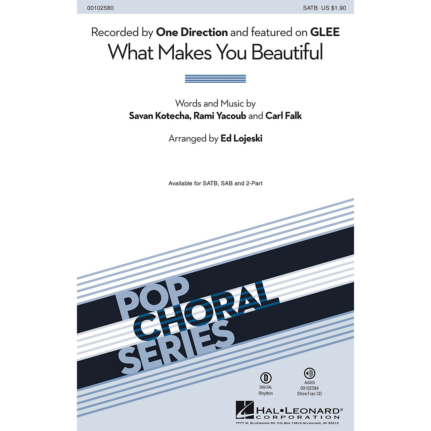 Hal Leonard What Makes You Beautiful (SATB) SATB by One Direction arranged by Ed Lojeski thumbnail