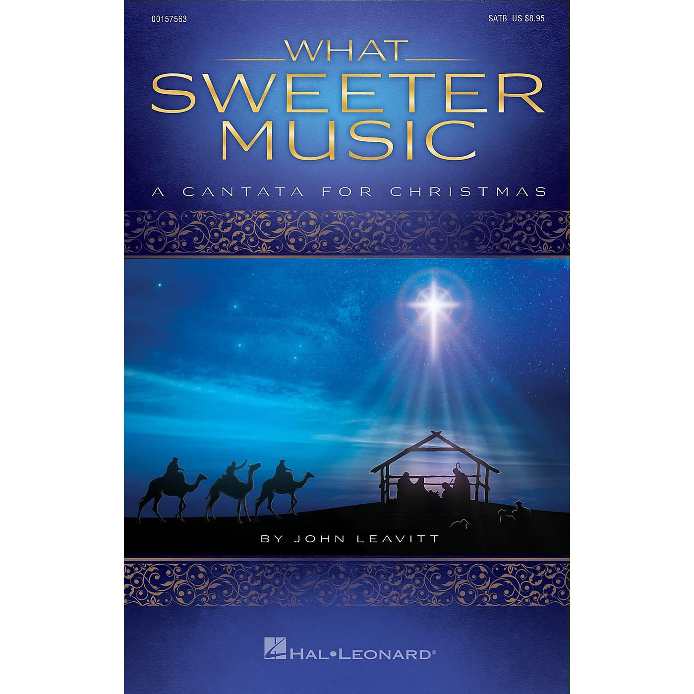 Hal Leonard What Sweeter Music (A Cantata for Christmas) SPLIT TRAX Arranged by John Leavitt thumbnail