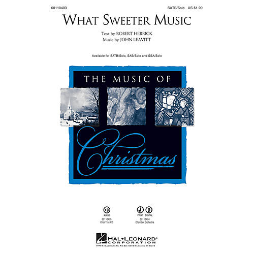 Hal Leonard What Sweeter Music Chamber Orchestra Composed by John Leavitt thumbnail