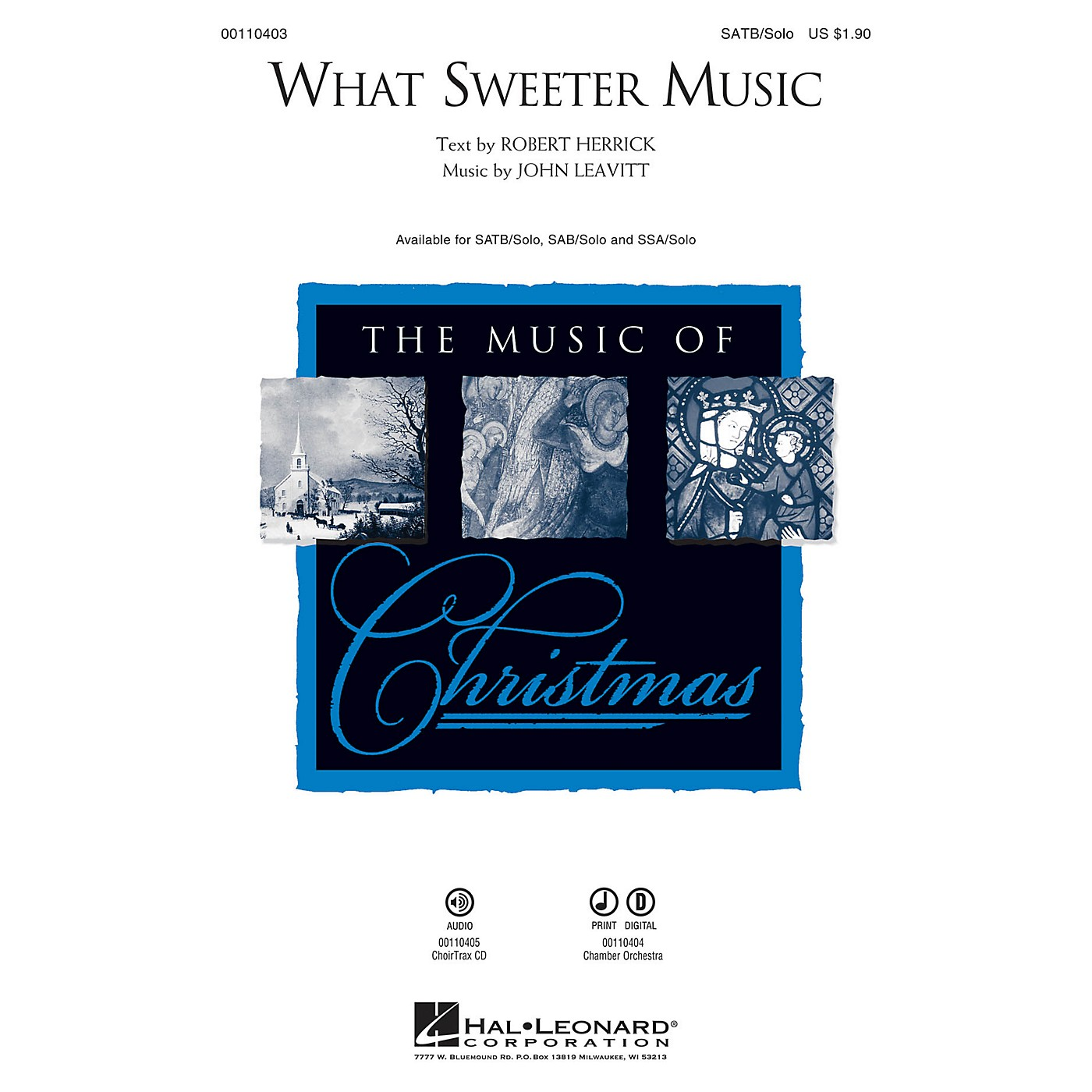 Hal Leonard What Sweeter Music SATB Chorus and Solo composed by John Leavitt thumbnail