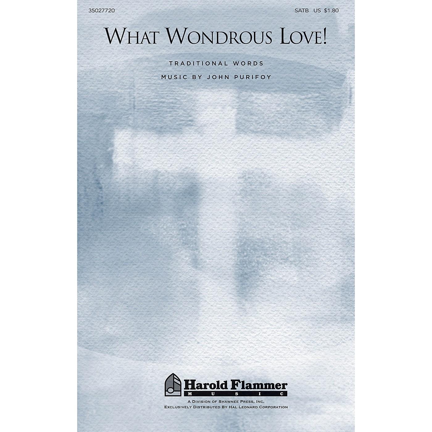 Shawnee Press What Wondrous Love! (Traditional Folk Hymn) SATB composed by John Purifoy thumbnail
