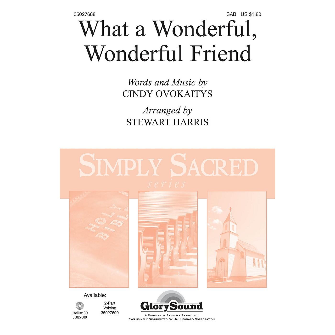 Shawnee Press What a Wonderful, Wonderful Friend SAB arranged by Stewart Harris thumbnail
