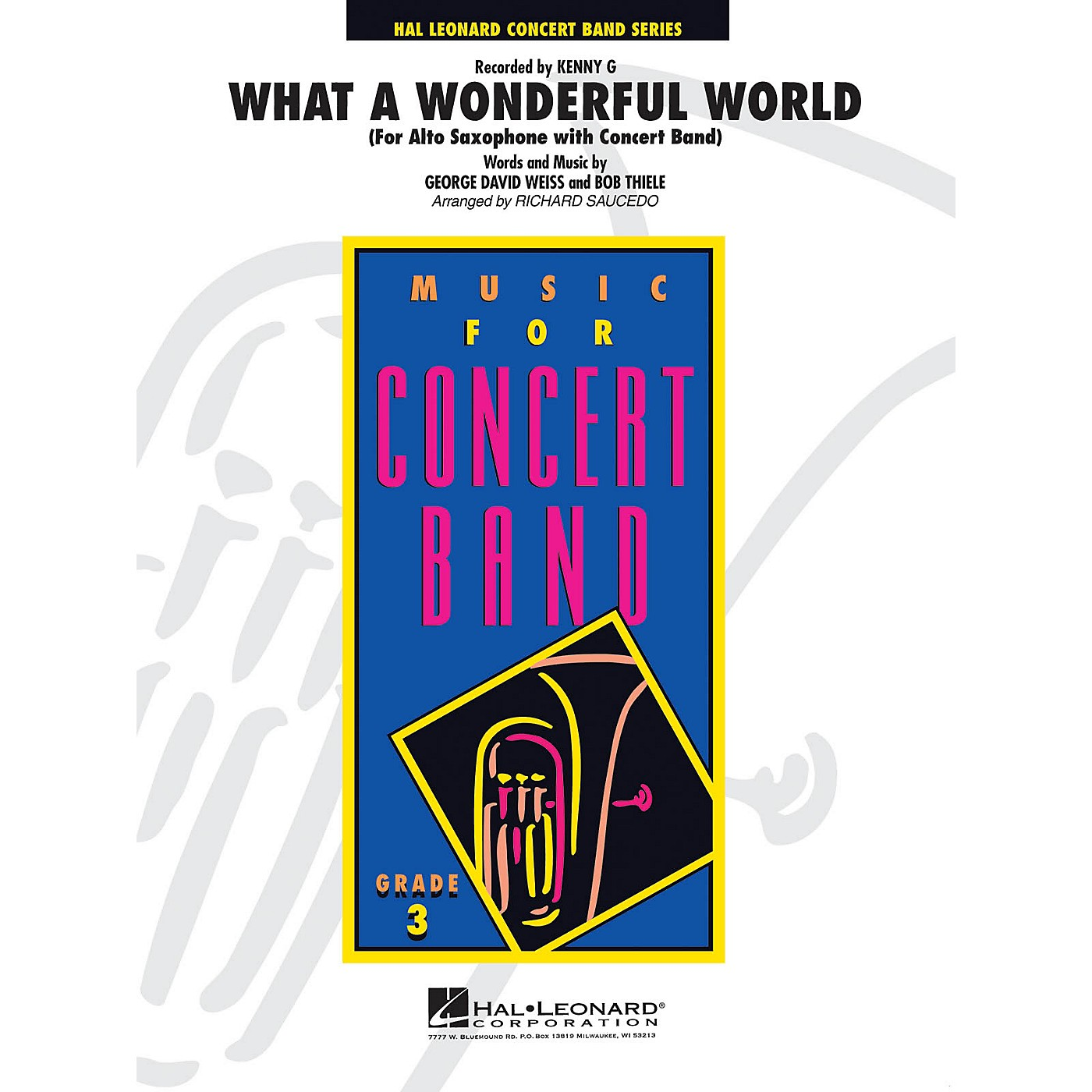 Hal Leonard What a Wonderful World - Young Concert Band Series Level 3 arranged by Richard Saucedo thumbnail