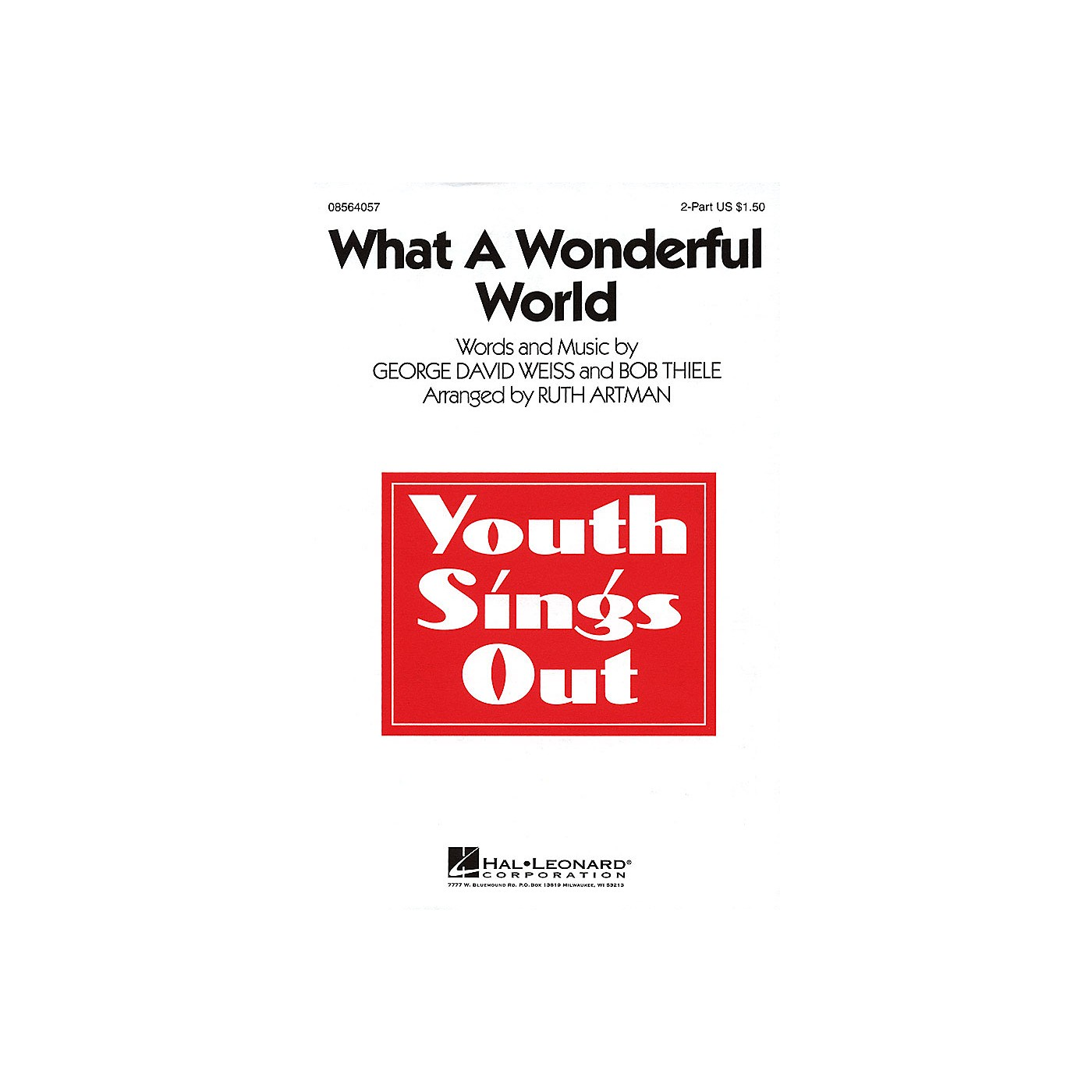 Hal Leonard What a Wonderful World 2-Part arranged by Ruth Artman thumbnail