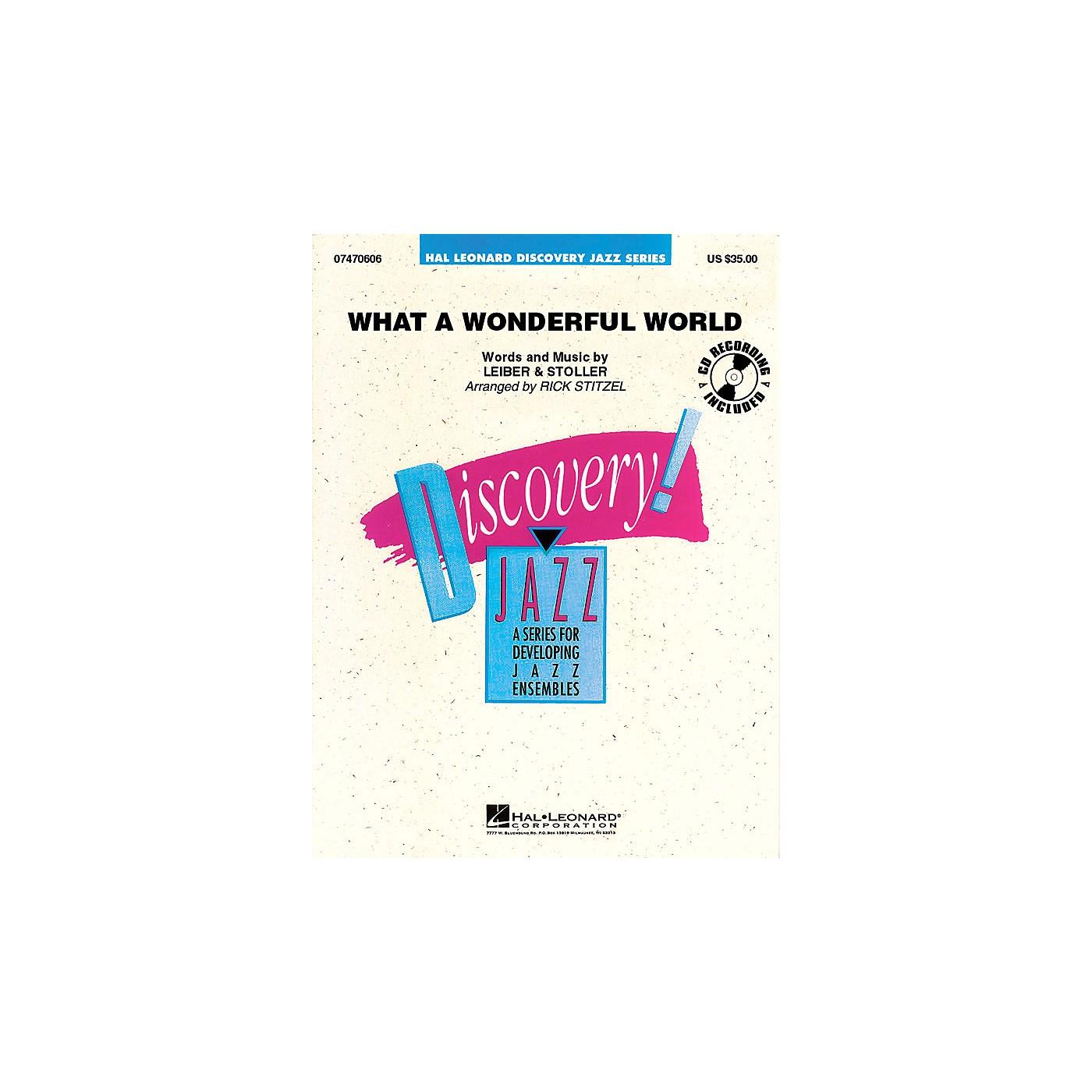 Hal Leonard What a Wonderful World Jazz Band Level 1.5 Arranged by Rick Stitzel thumbnail