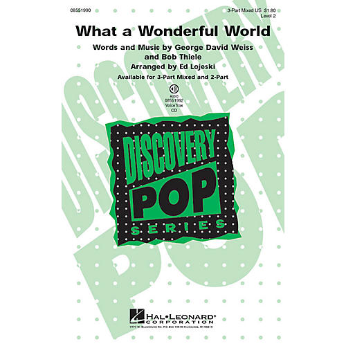 Hal Leonard What a Wonderful World VoiceTrax CD Arranged by Ed Lojeski thumbnail
