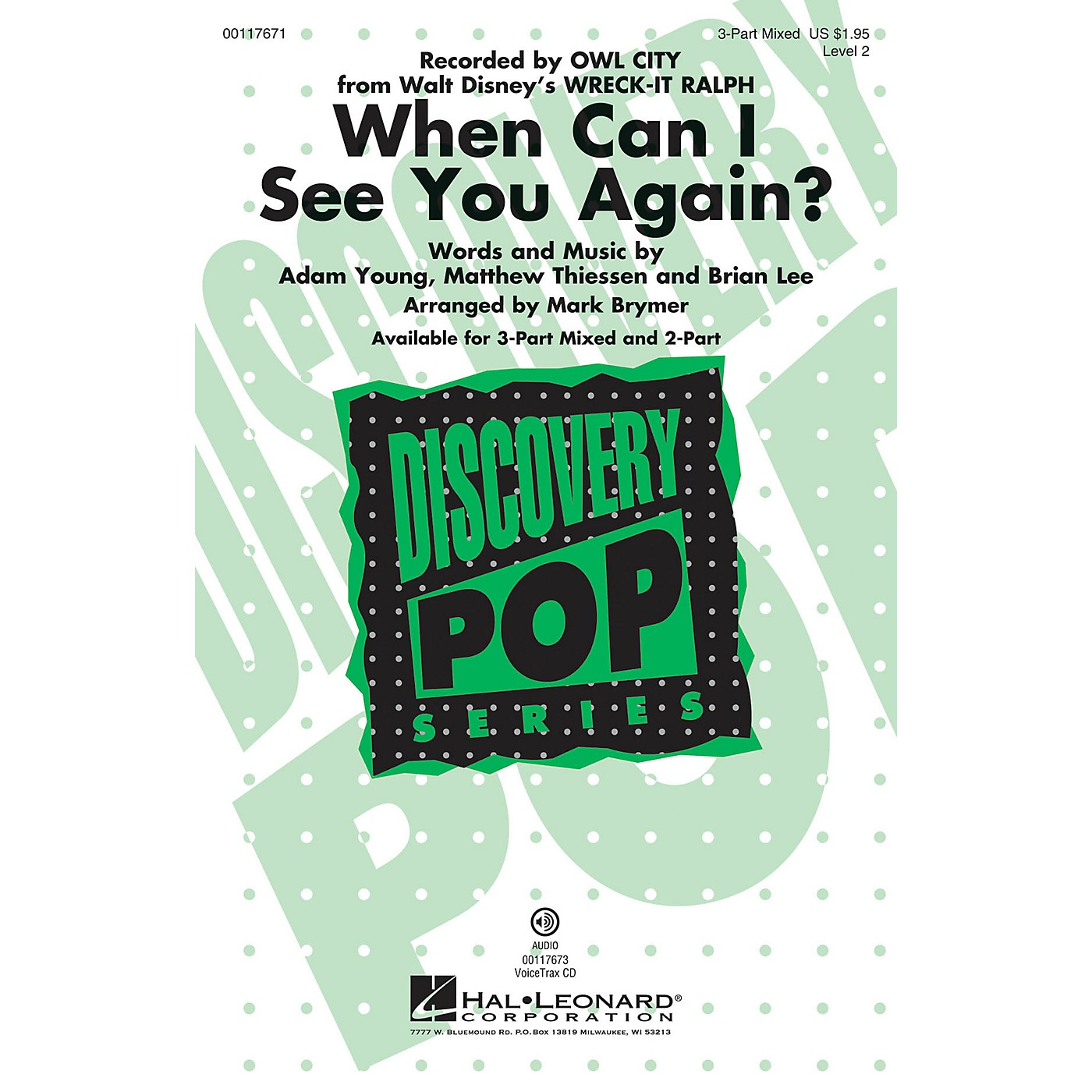 Hal Leonard When Can I See You Again? VoiceTrax CD by Owl City Arranged by Mark Brymer thumbnail