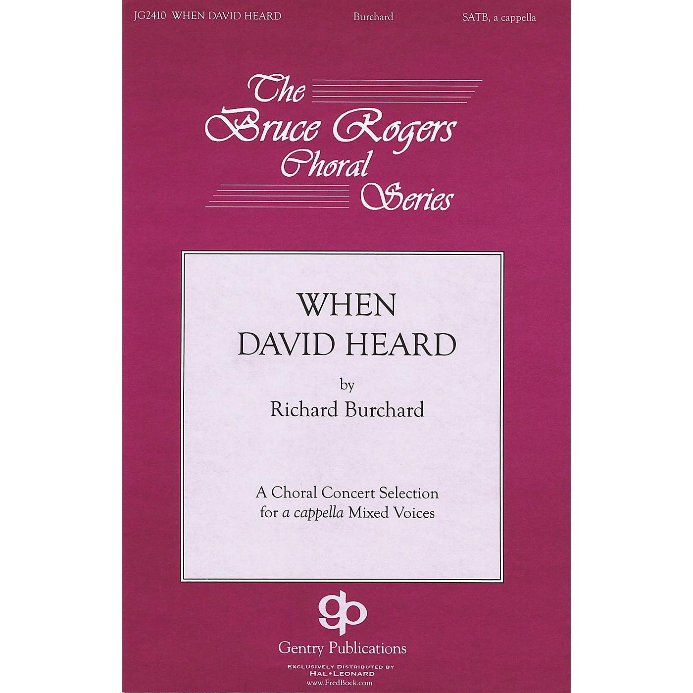 Gentry Publications When David Heard TTBB Div A Cappella Composed by Richard Burchard thumbnail