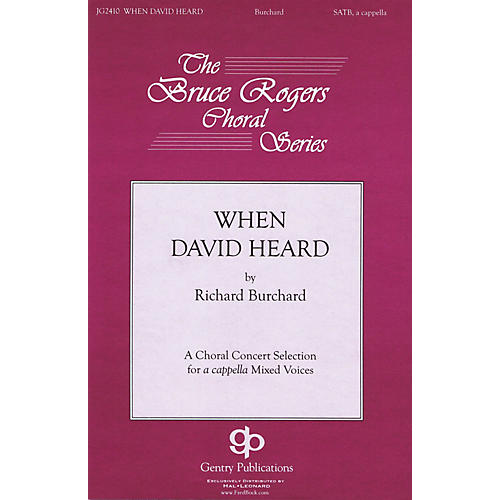 Gentry Publications When David Heard TTBB Div A Cappella Composed by Richard Burchard thumbnail