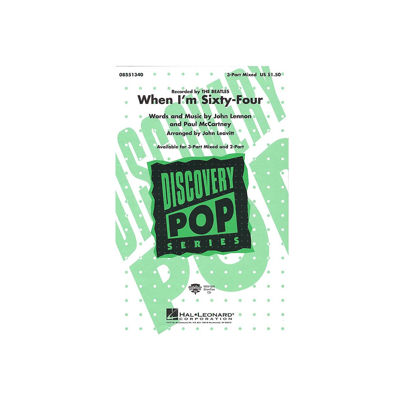 Hal Leonard When I'm Sixty-Four 3-Part Mixed by The Beatles arranged by John Leavitt thumbnail