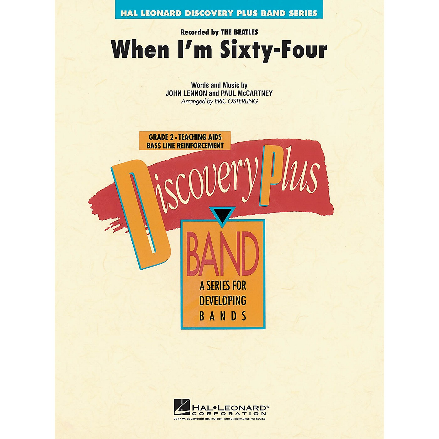 Hal Leonard When I'm Sixty-four - Discovery Plus Concert Band Series Level 2 arranged by Eric Osterling thumbnail