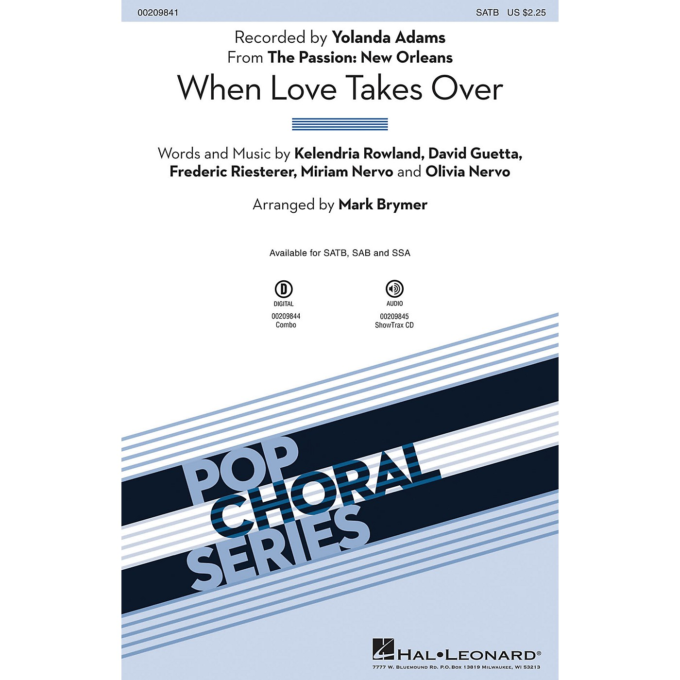 Hal Leonard When Love Takes Over (from The Passion: New Orleans) SAB by Yolanda Adams Arranged by Mark Brymer thumbnail