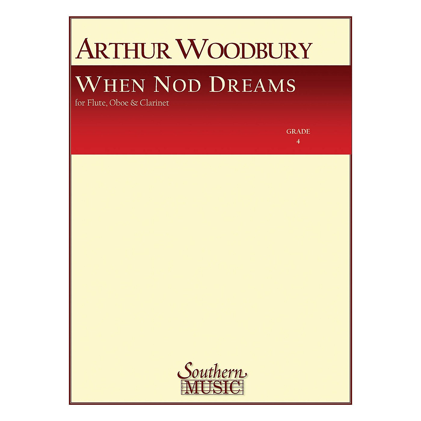 Southern When Nod Dreams (Woodwind Trio) Southern Music Series by Arthur Woodbury thumbnail