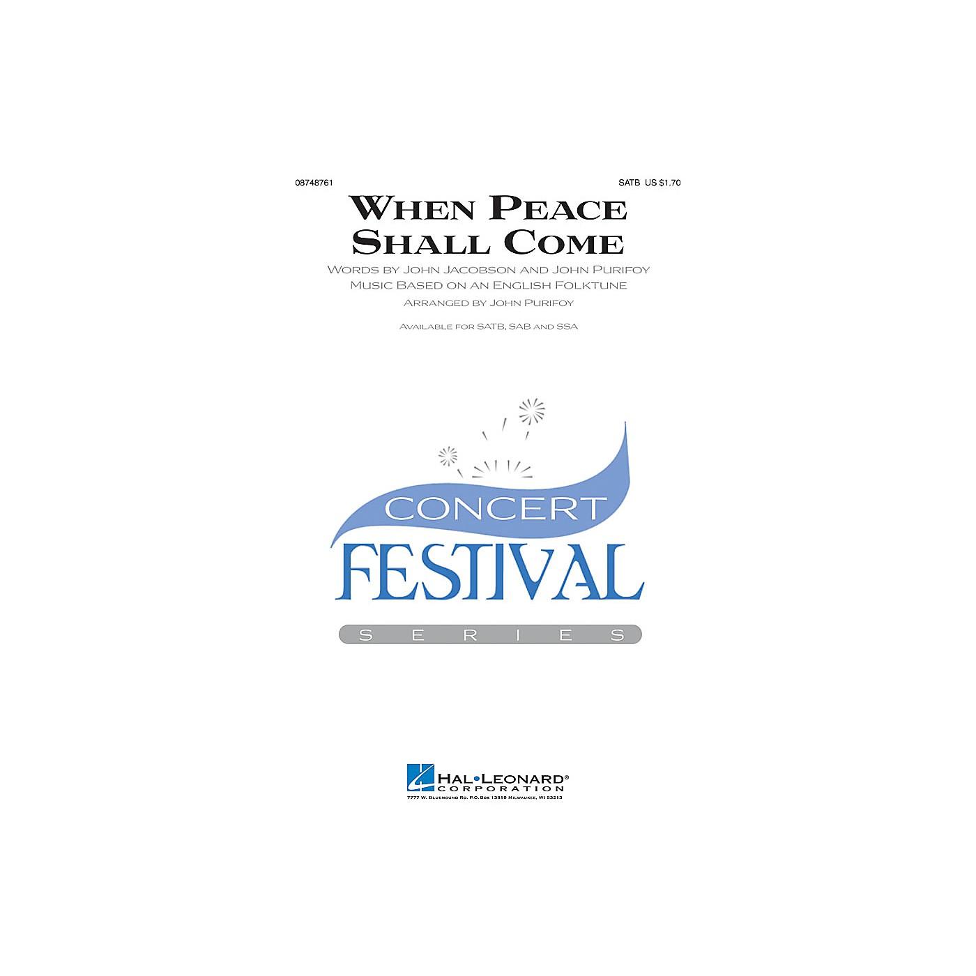 Hal Leonard When Peace Shall Come SAB Arranged by John Purifoy thumbnail