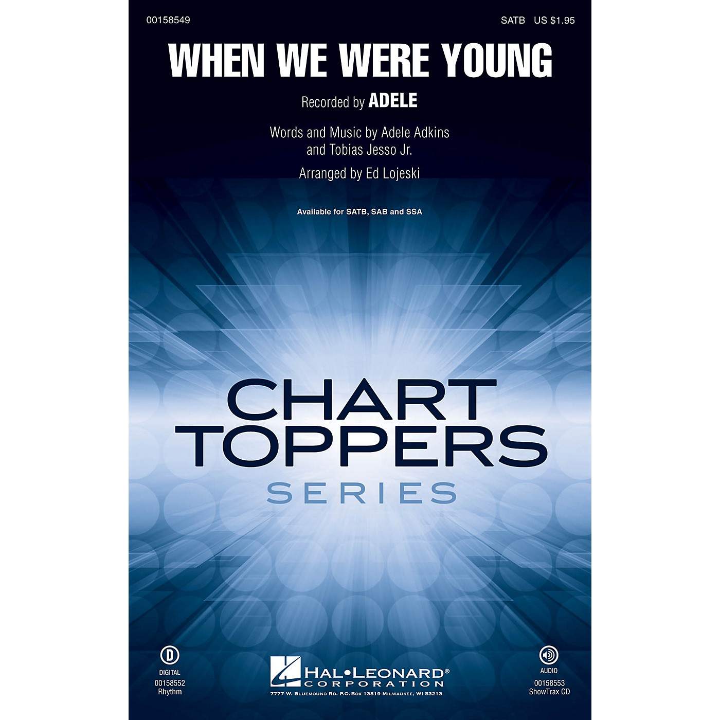 Hal Leonard When We Were Young SATB by Adele arranged by Ed Lojeski thumbnail