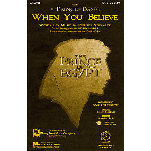 Cherry Lane When You Believe (from The Prince of Egypt) 2-Part Arranged by Audrey Snyder thumbnail