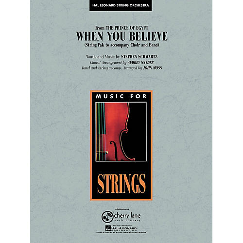 Cherry Lane When You Believe (from The Prince of Egypt) Pop Specials for Strings Series Arranged by John Moss thumbnail