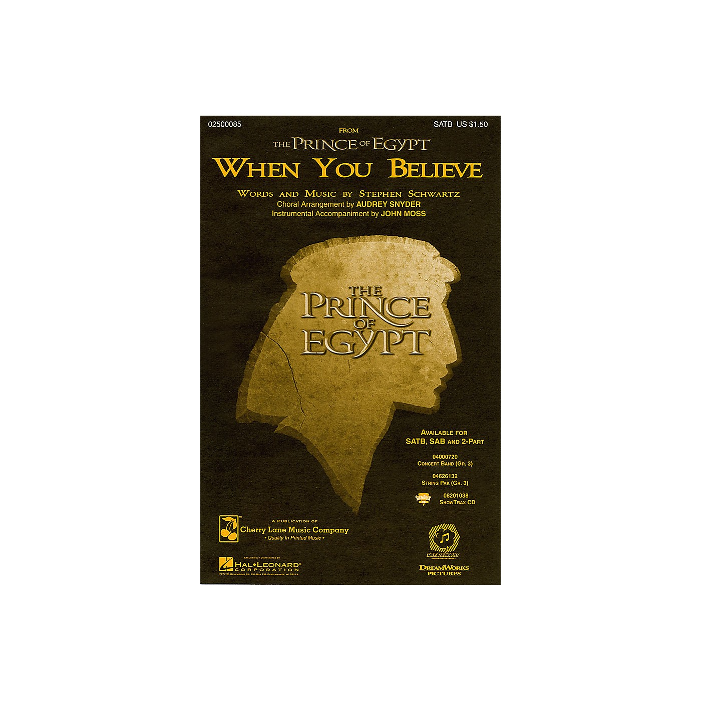Hal Leonard When You Believe (from The Prince of Egypt) ShowTrax CD Arranged by Audrey Snyder thumbnail