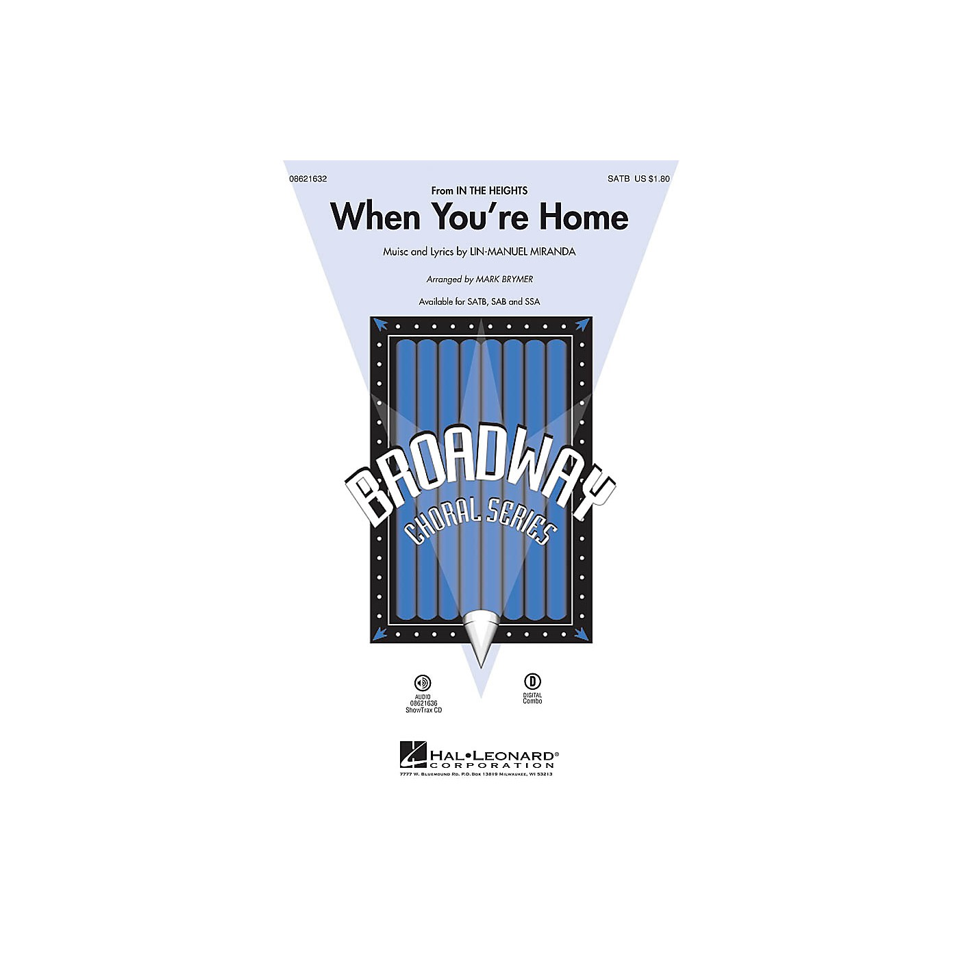 Hal Leonard When You're Home (from In the Heights) SATB arranged by Mark Brymer thumbnail