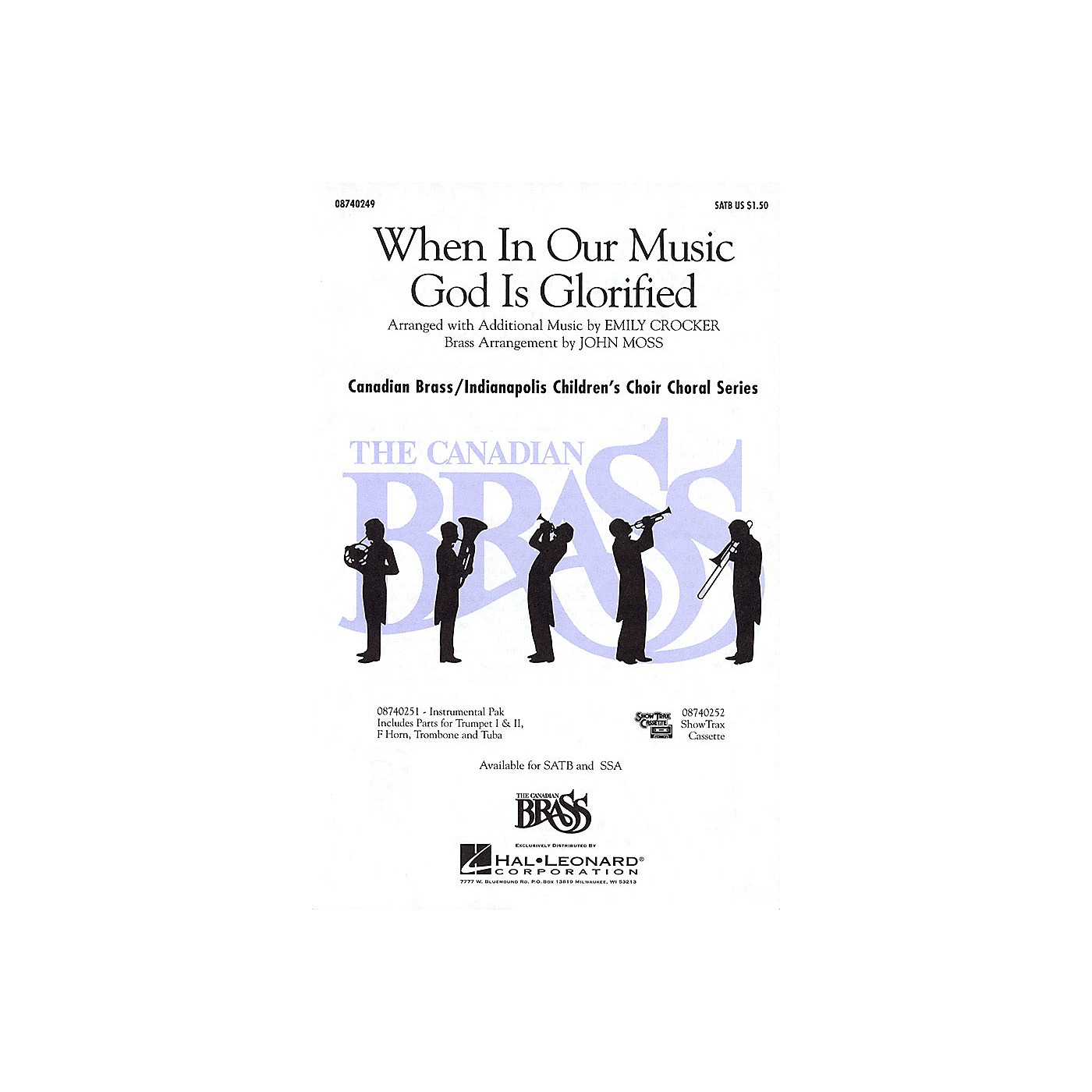 Hal Leonard When in Our Music God Is Glorified SATB composed by Fred Pratt Green thumbnail