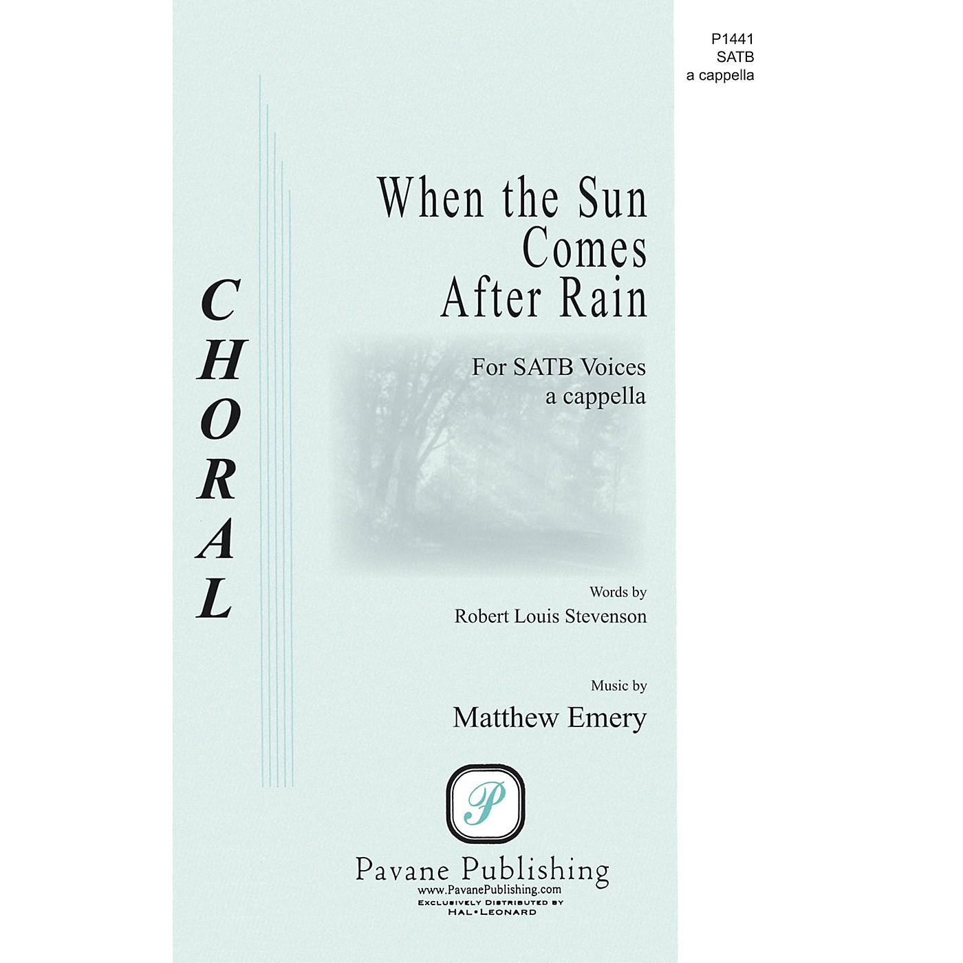 Pavane When the Sun Comes After Rain SATB a cappella composed by Matthew Emery thumbnail