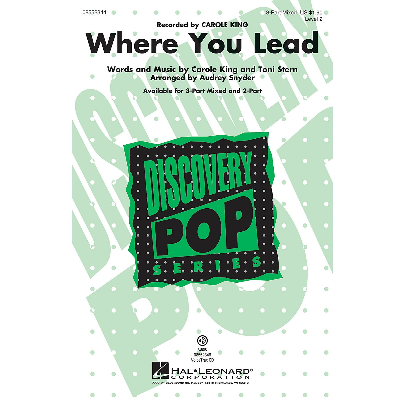 Hal Leonard Where You Lead (Discovery Level 2) 3-Part Mixed by Carole King arranged by Audrey Snyder thumbnail