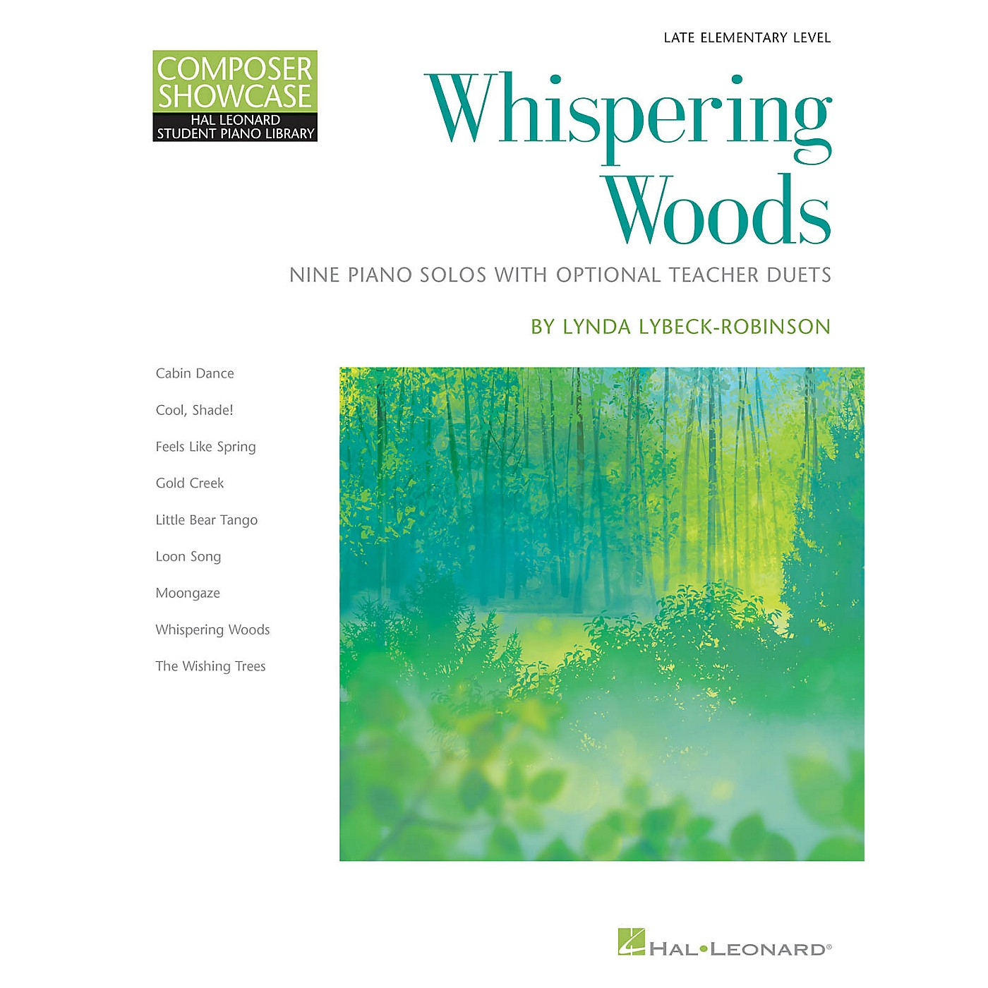 Hal Leonard Whispering Woods - 9 Piano Solos with Optional Teacher Duets Late Elementary Level thumbnail