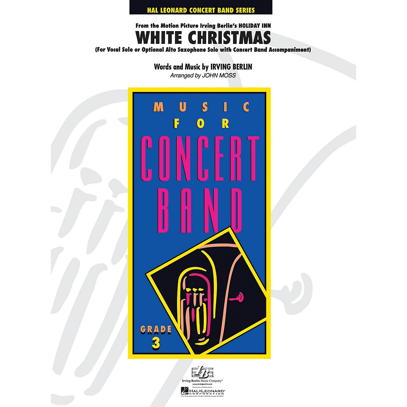 Hal Leonard White Christmas - Young Concert Band Series Level 3 arranged by John Moss thumbnail