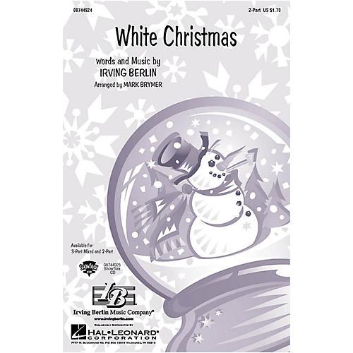 Hal Leonard White Christmas 2-Part arranged by Mark Brymer thumbnail