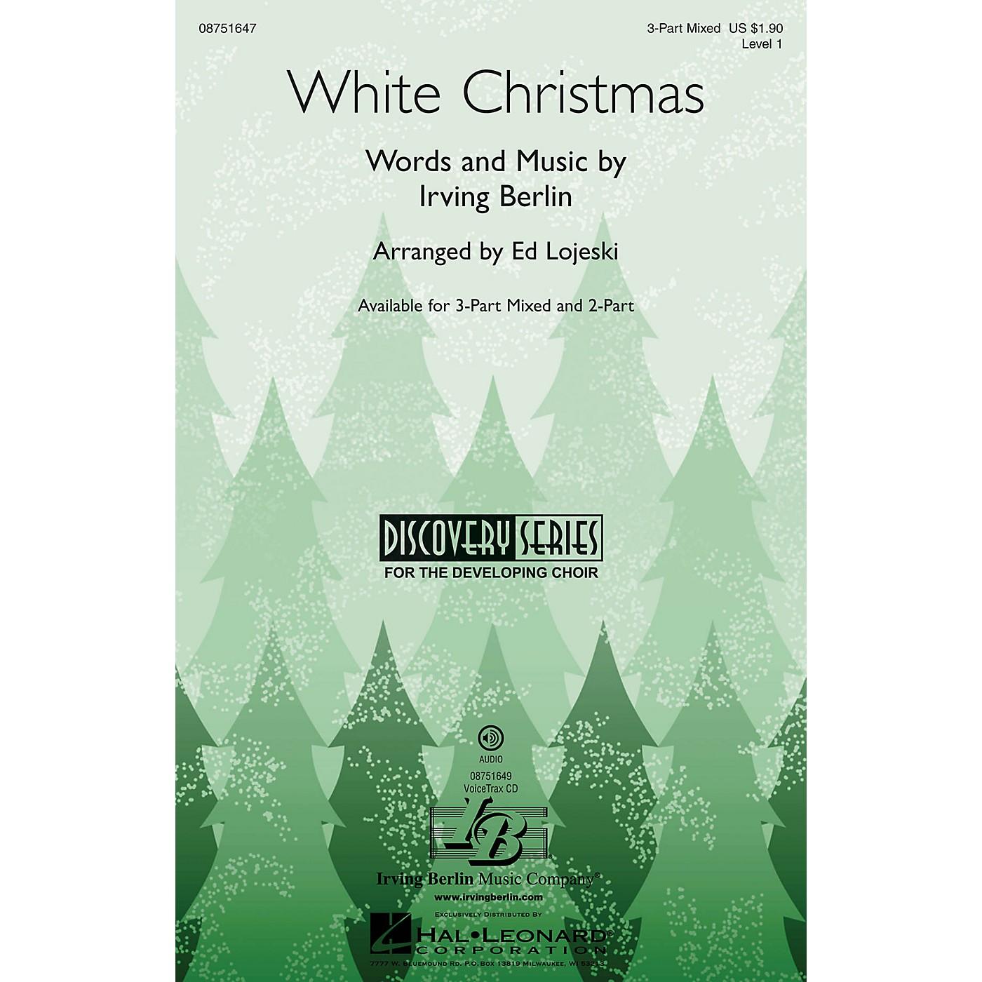 Hal Leonard White Christmas (Discovery Level 1) 2-Part Arranged by Ed Lojeski thumbnail