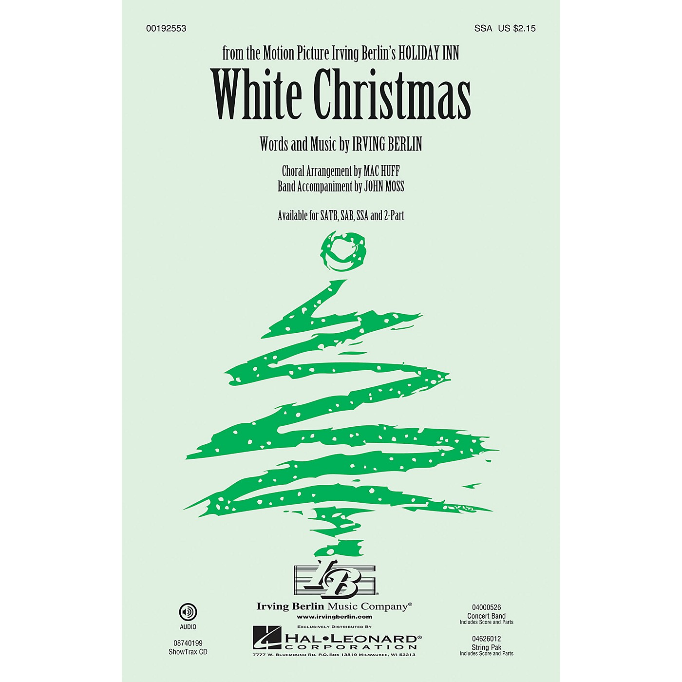 Hal Leonard White Christmas SSA arranged by Mac Huff thumbnail