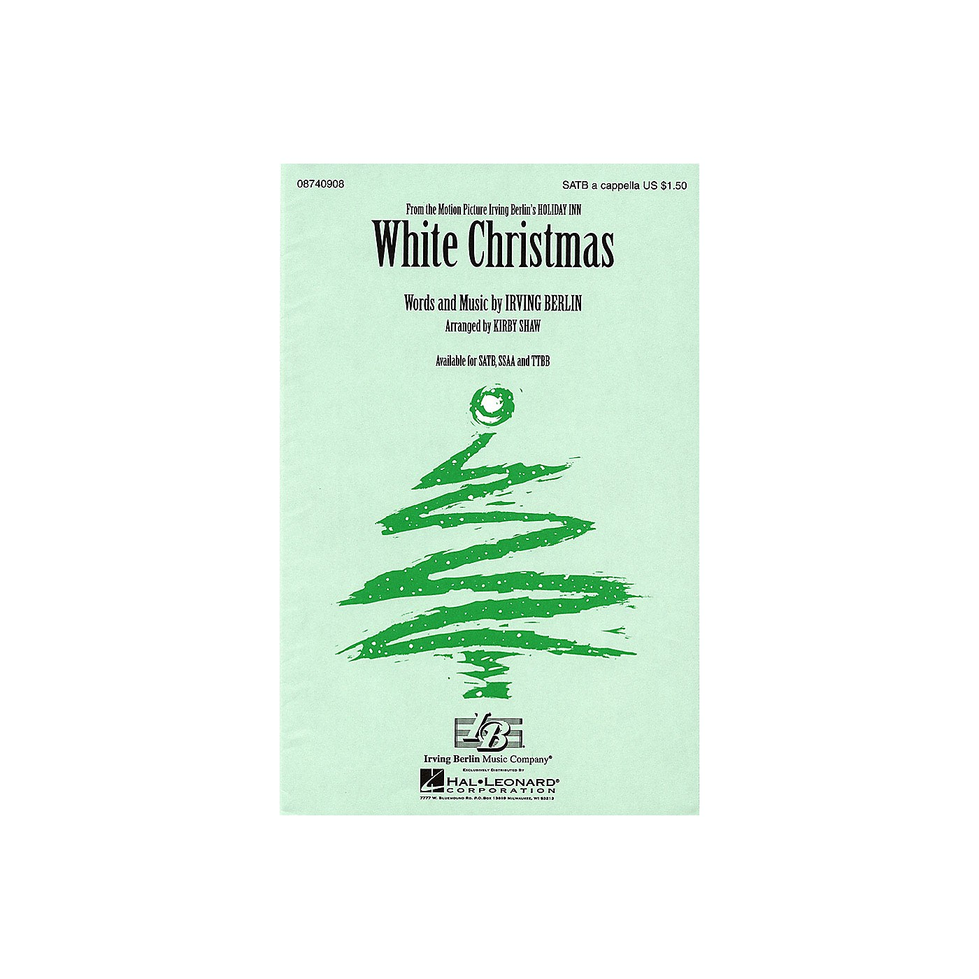Hal Leonard White Christmas SSAA A Cappella Arranged by Kirby Shaw thumbnail
