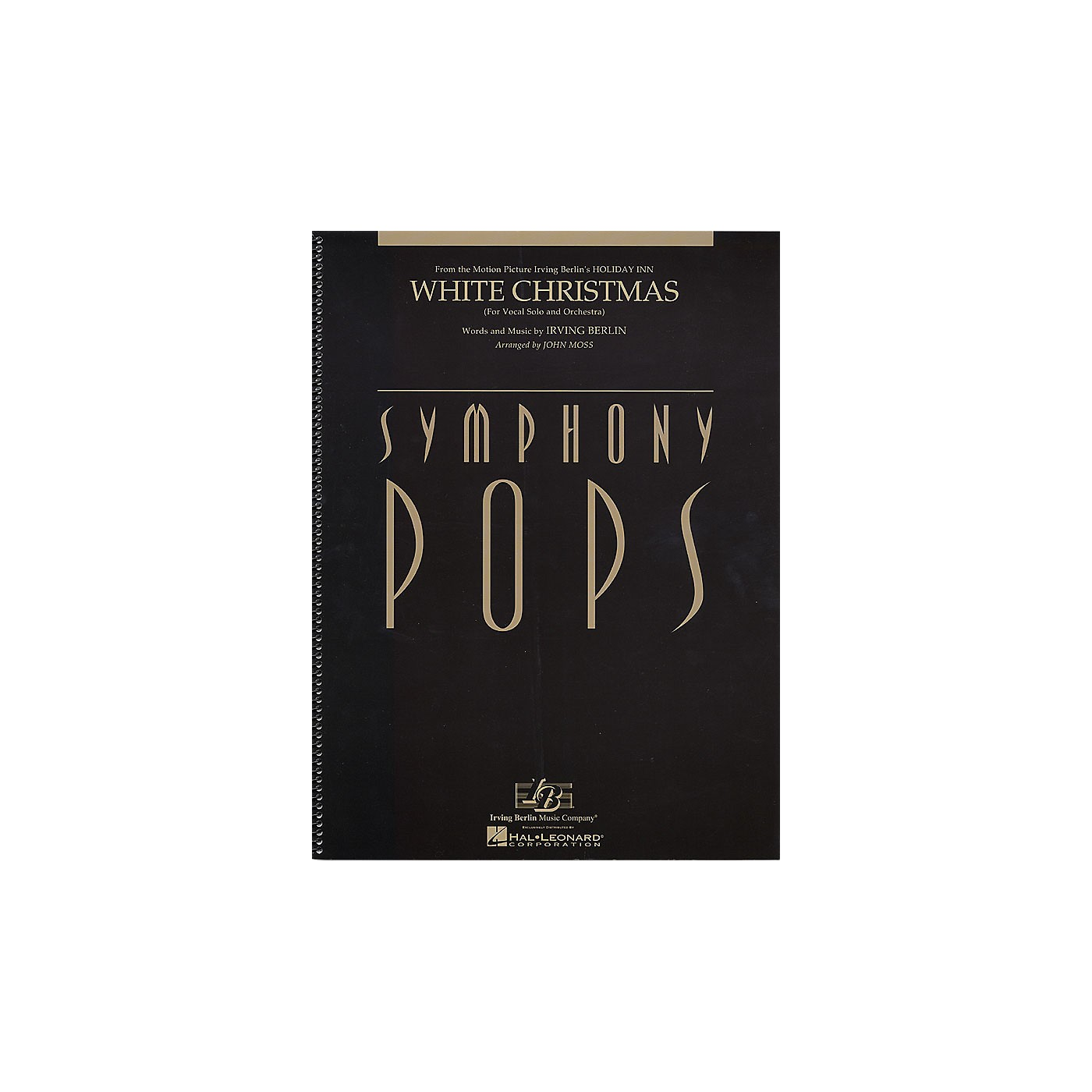Hal Leonard White Christmas (Vocal Solo and Orchestra Deluxe Score) Symphony Pops Series Arranged by John Moss thumbnail