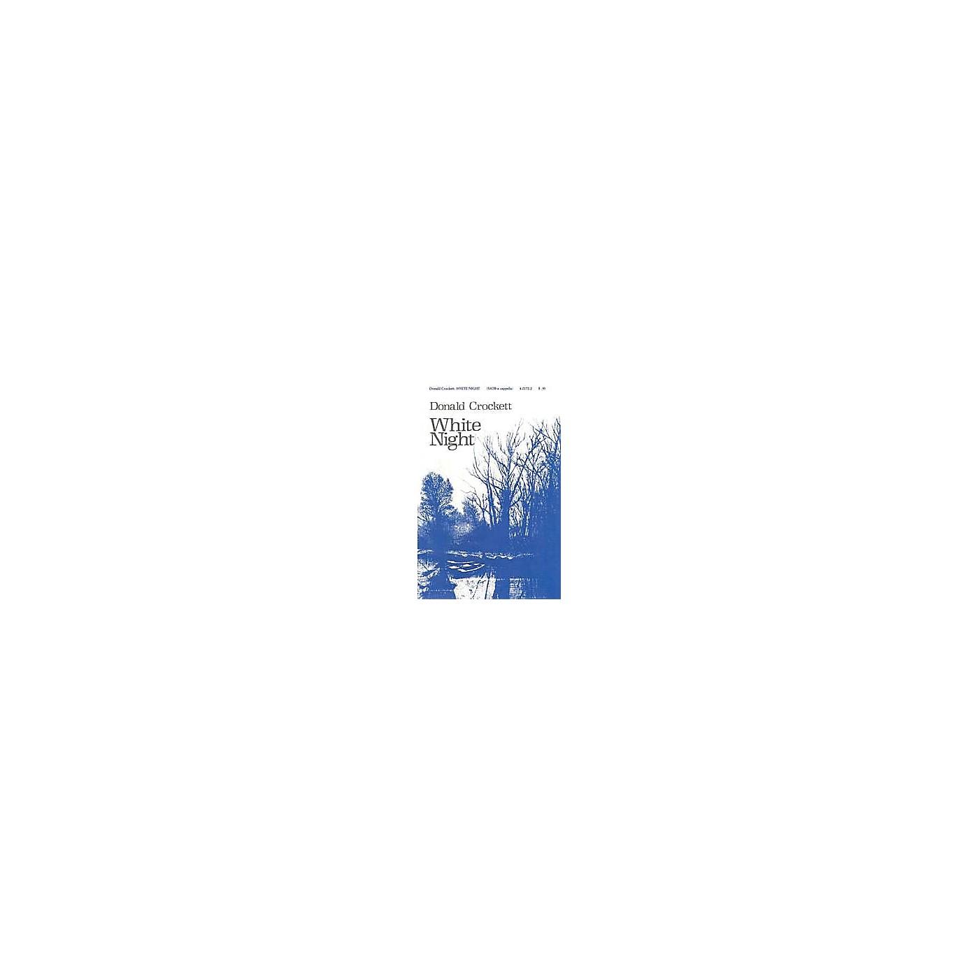 Lauren Keiser Music Publishing White Night SATB a cappella Composed by Donald Crockett thumbnail