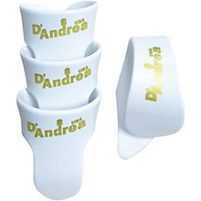 D'Andrea White T&F Pack - 1 Thumb & 3 Finger Picks
