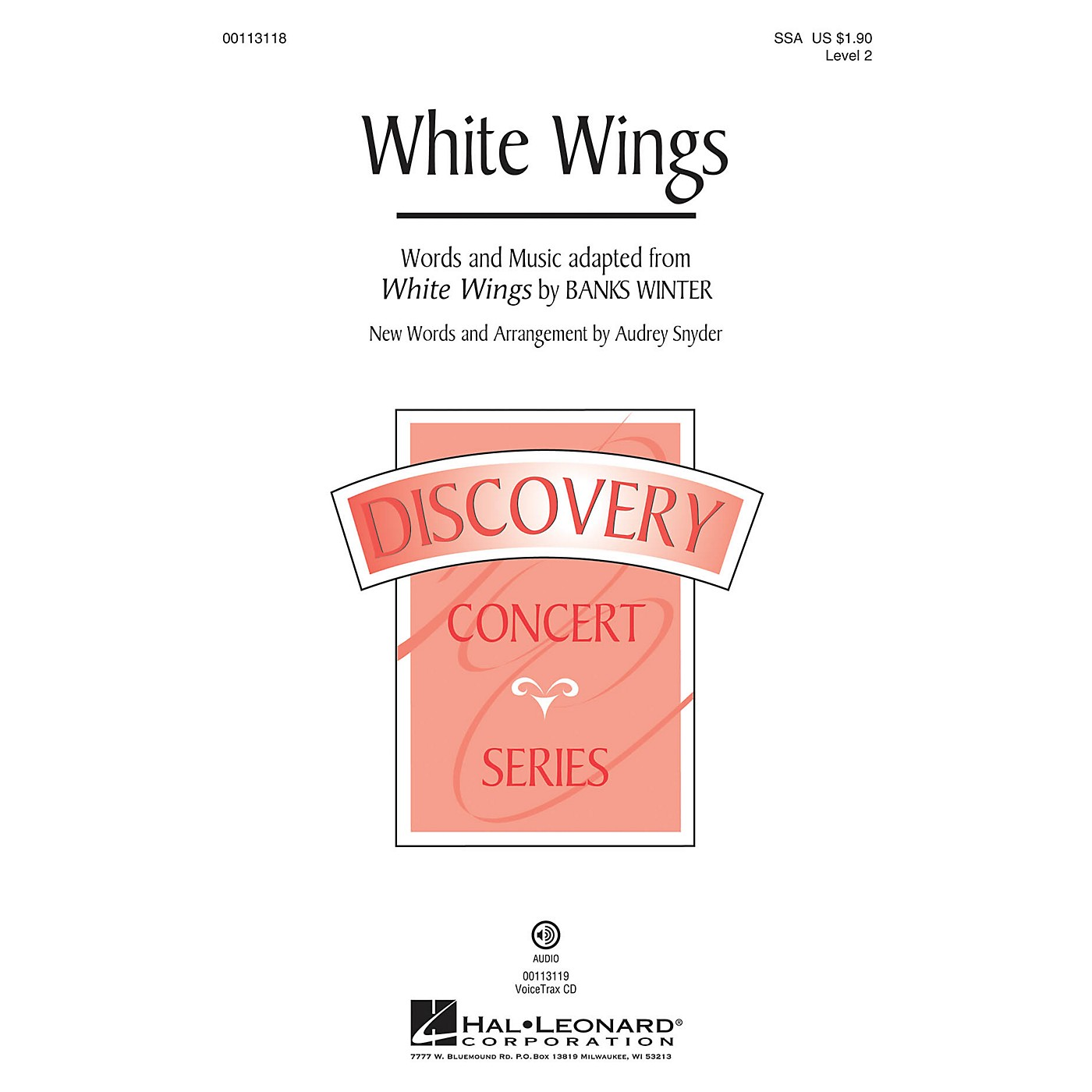 Hal Leonard White Wings (Discovery Level 2) SSA arranged by Audrey Snyder thumbnail