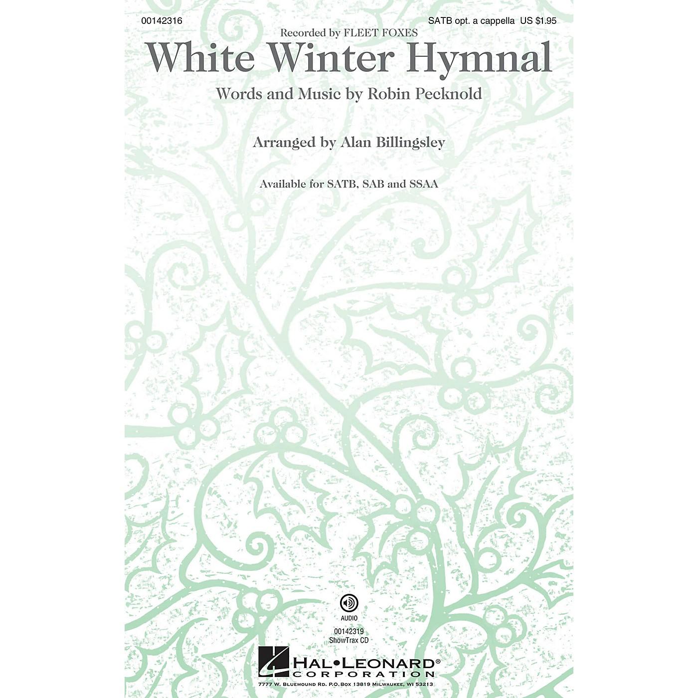 Hal Leonard White Winter Hymnal SATB by Fleet Foxes arranged by Alan Billingsley thumbnail