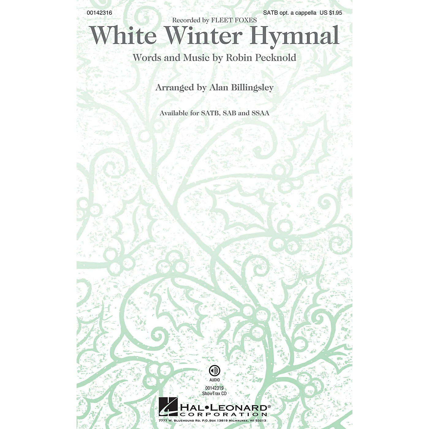 Hal Leonard White Winter Hymnal ShowTrax CD by Fleet Foxes Arranged by Alan Billingsley thumbnail