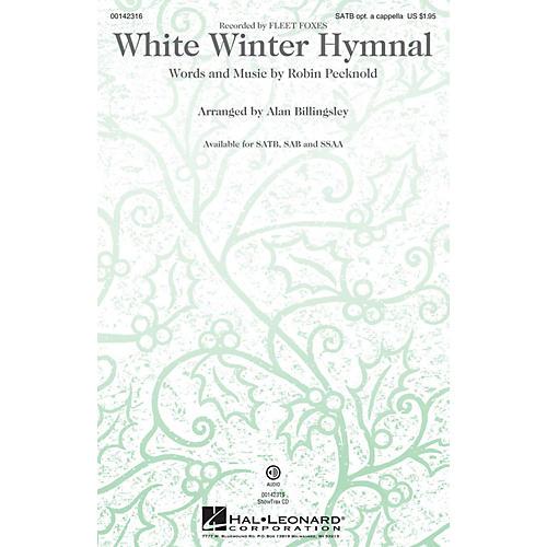 Hal Leonard White Winter Hymnal ShowTrax CD by Fleet Foxes Arranged by Alan Billingsley thumbnail