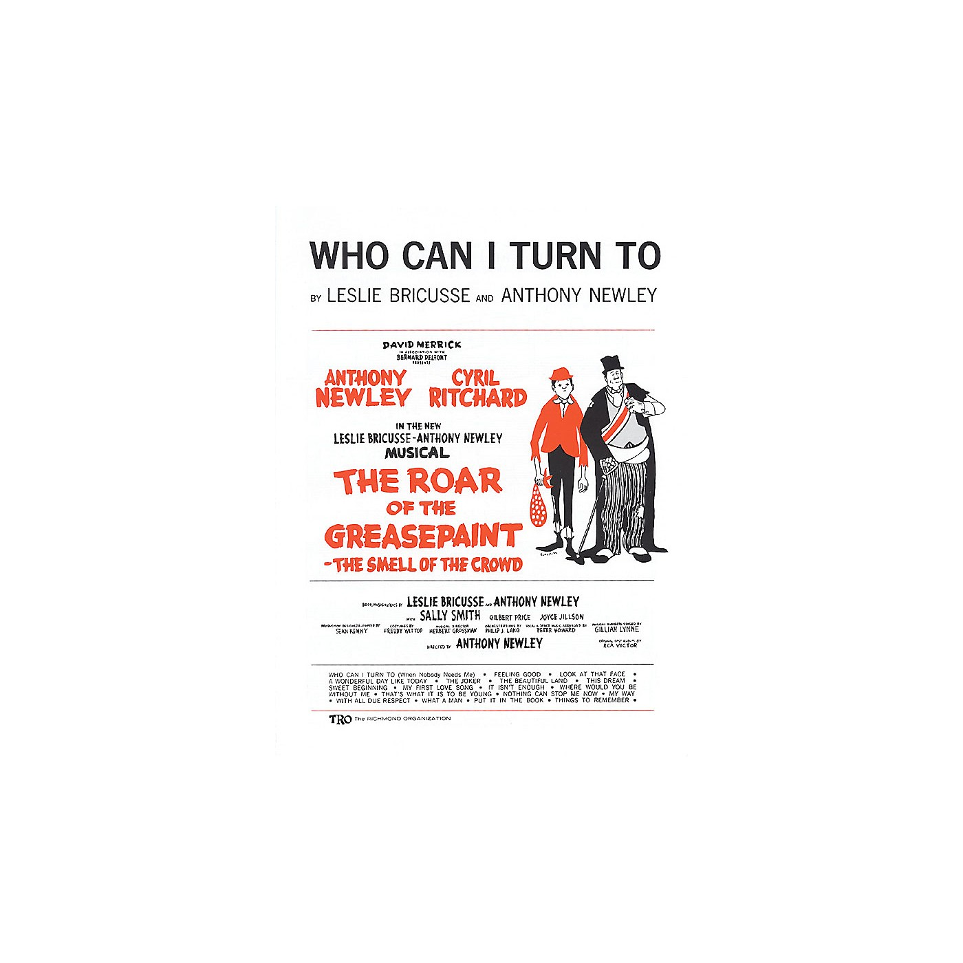 TRO ESSEX Music Group Who Can I Turn To Richmond Music ¯ Sheet Music Series thumbnail