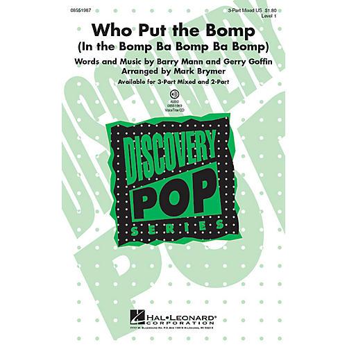 Hal Leonard Who Put the Bomp 2-Part Arranged by Mark Brymer thumbnail